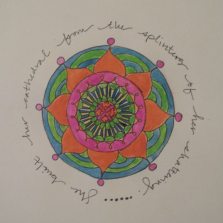 """""""She built her cathedral from the splinters of her shattering."""" -poem by Terri St. Cloud, mandala by me."""
